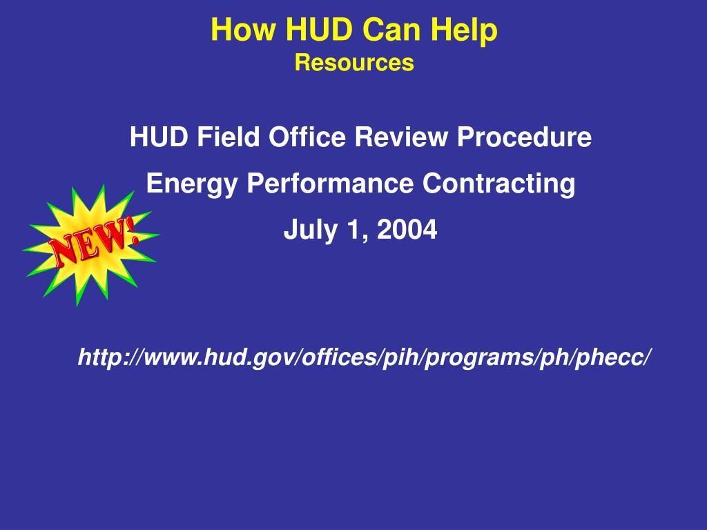HUD Field Office Review Procedure