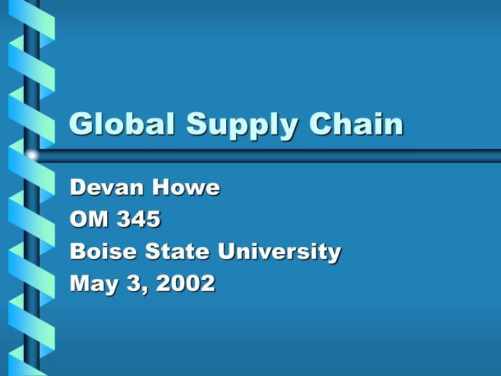 global supply chain n.