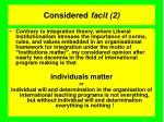 considered facit 2
