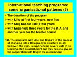 international teaching programs some organisational patterns 3