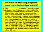 international teaching programs some organisational patterns 4