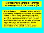 international teaching programs some organisational patterns 5
