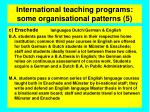 international teaching programs some organisational patterns 59