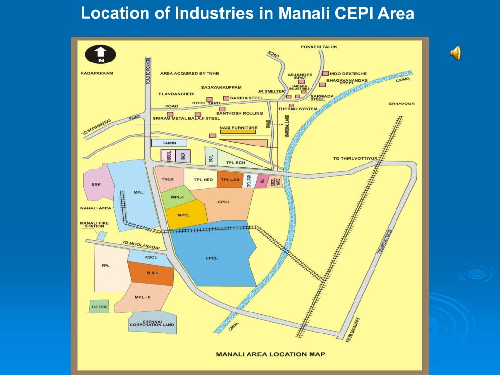 Location of Industries in Manali CEPI Area