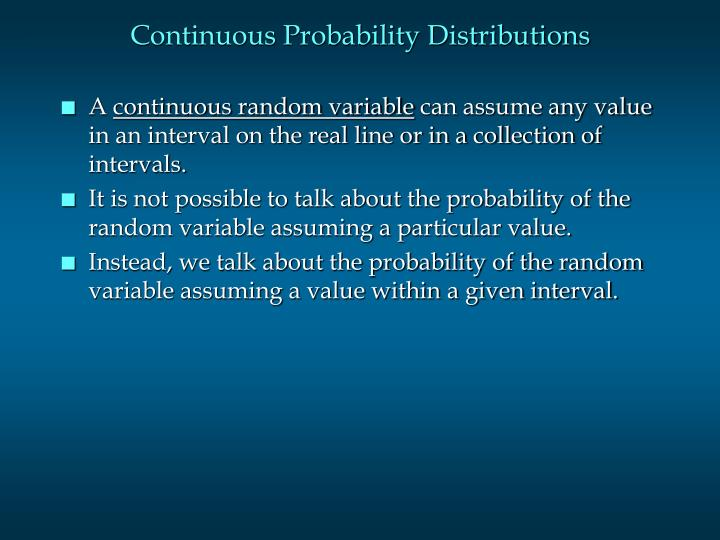 Continuous probability distributions2