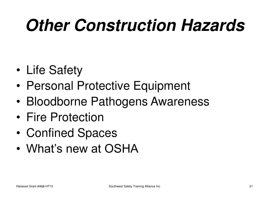 Other Construction Hazards
