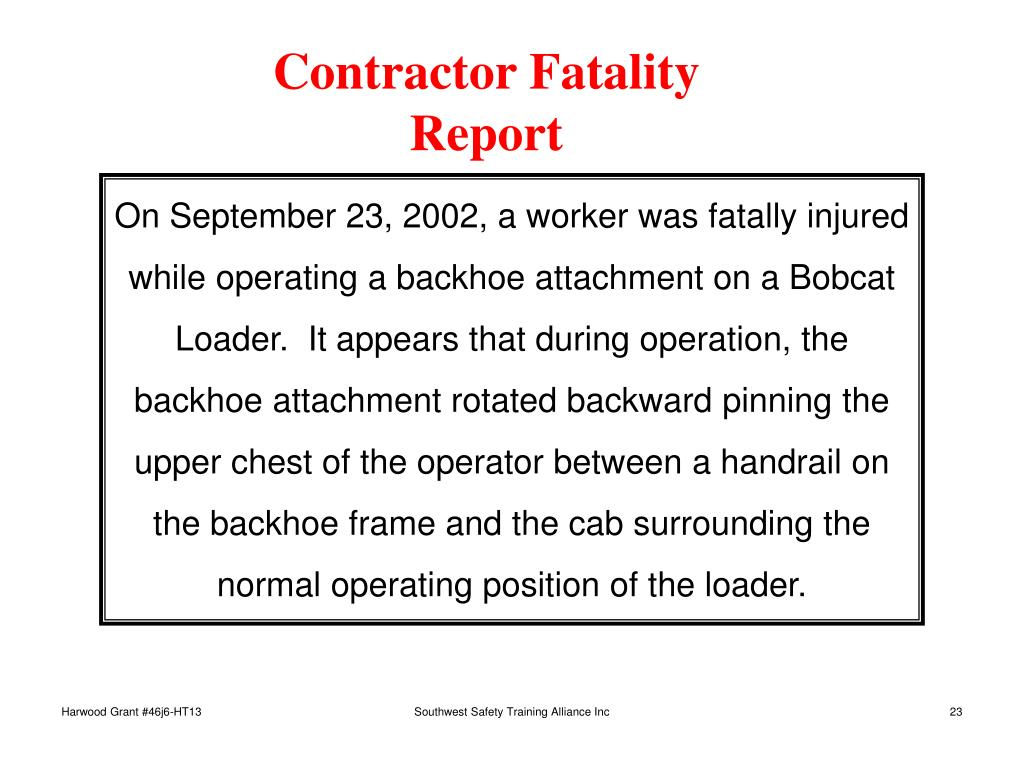 Contractor Fatality