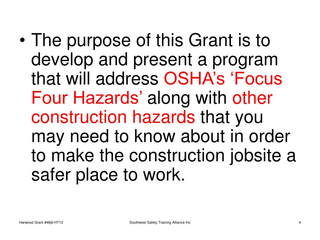 The purpose of this Grant is to develop and present a program that will address