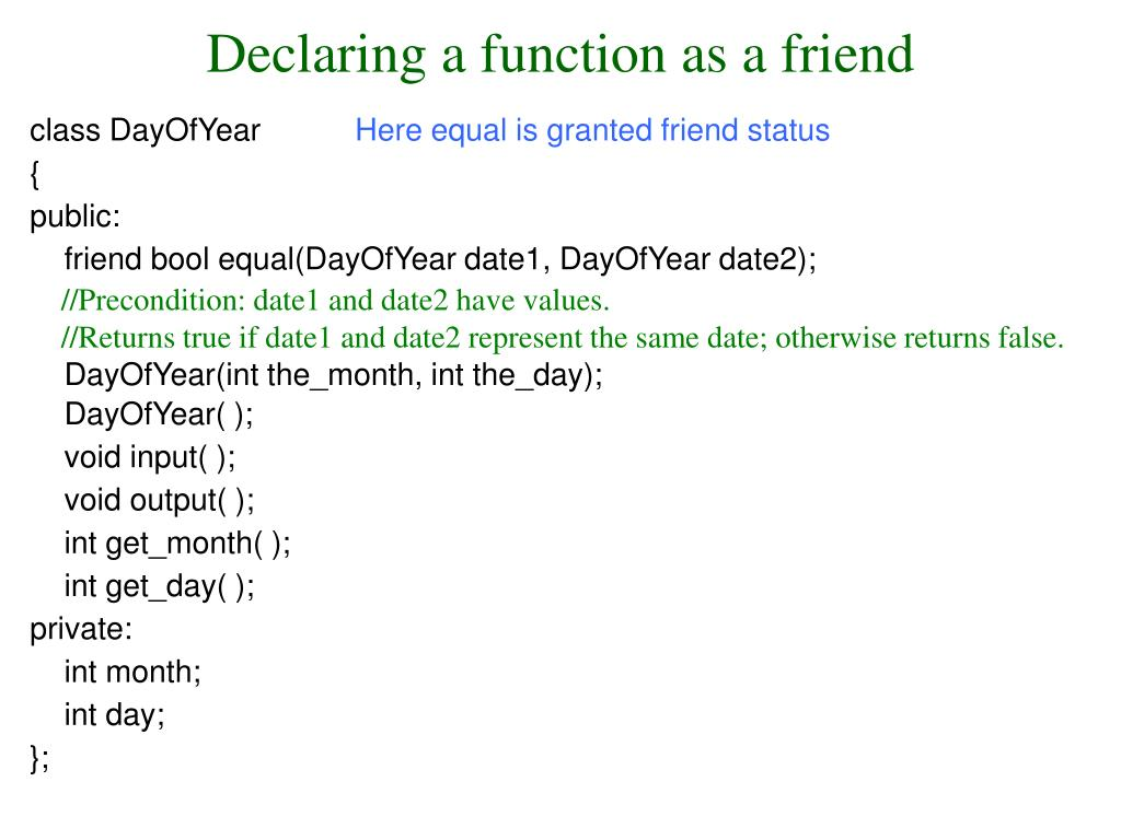 Declaring a function as a friend
