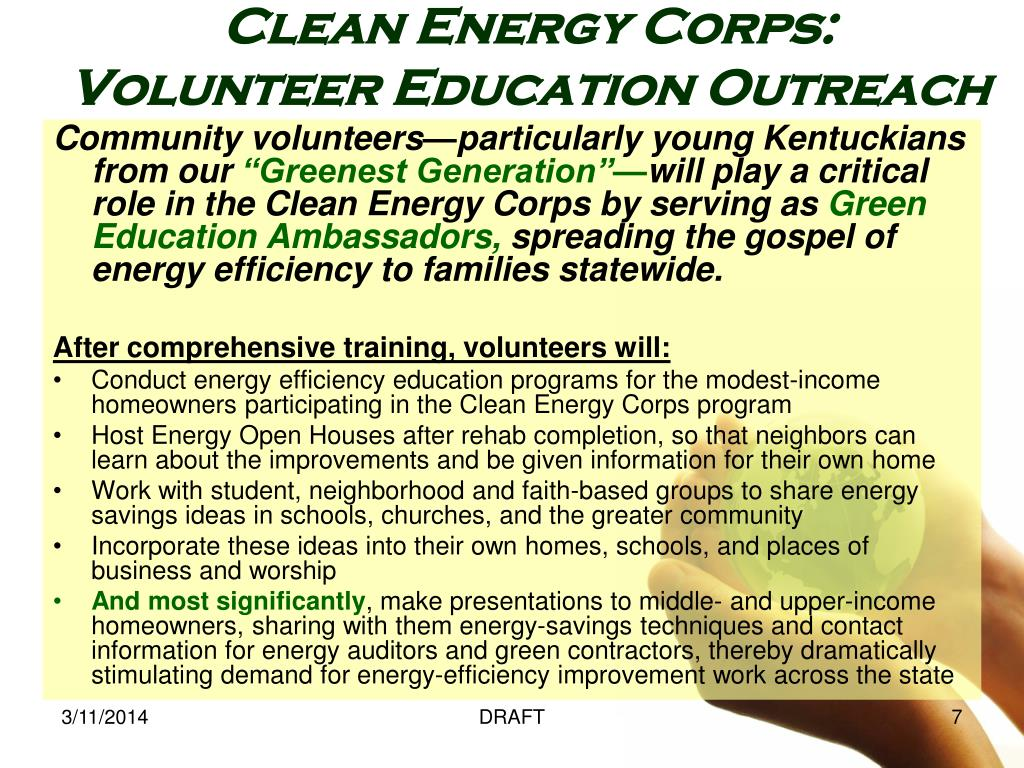 Community volunteers—particularly young Kentuckians from our