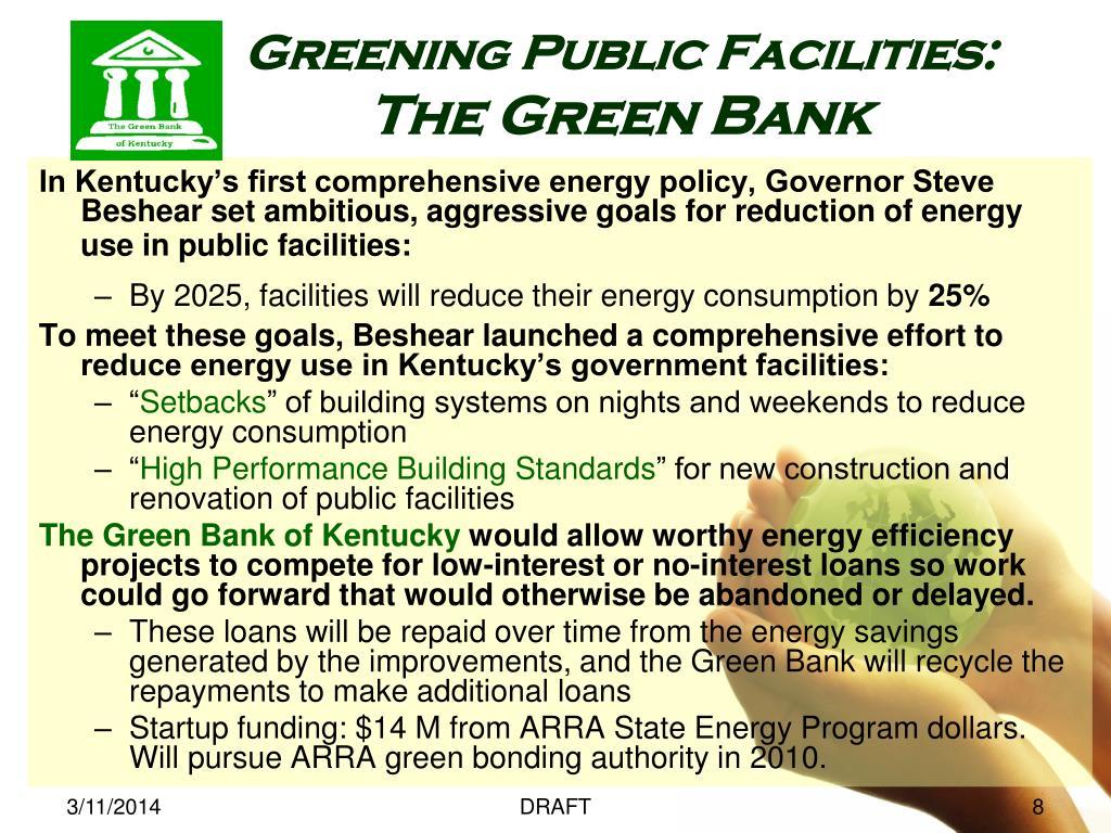 Greening Public Facilities: