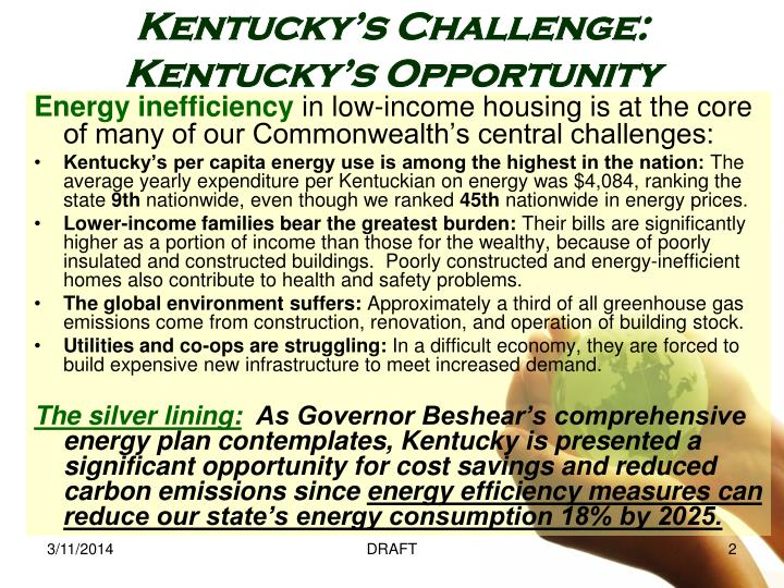 Kentucky s challenge kentucky s opportunity