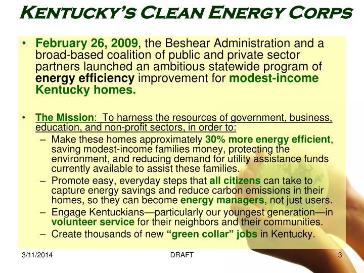 Kentucky s clean energy corps