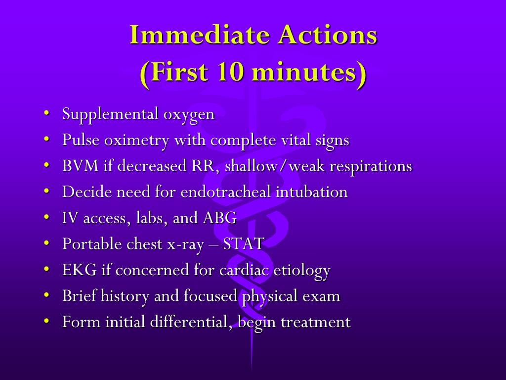 Immediate Actions