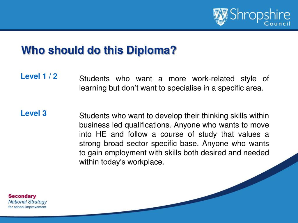 Who should do this Diploma?