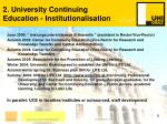 2 university continuing education institutionalisation