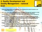 4 quality development and quality management national level