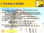 5 the role of aucen