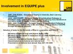 involvement in equipe plus