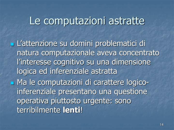 Le computazioni astratte