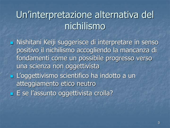 Un interpretazione alternativa del nichilismo