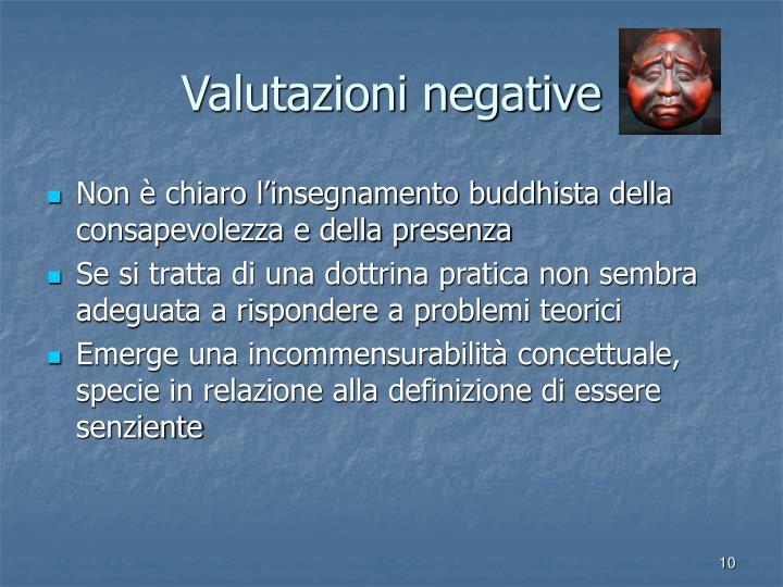 Valutazioni negative
