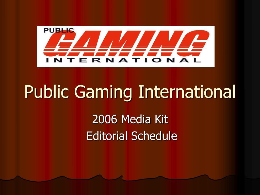 public gaming international l.
