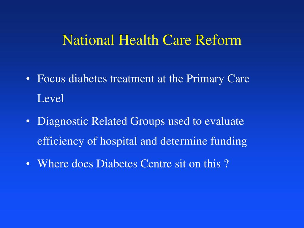 National Health Care Reform