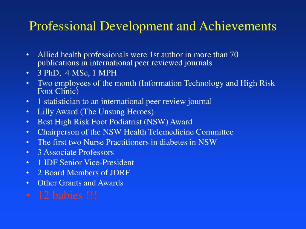 Professional Development and Achievements