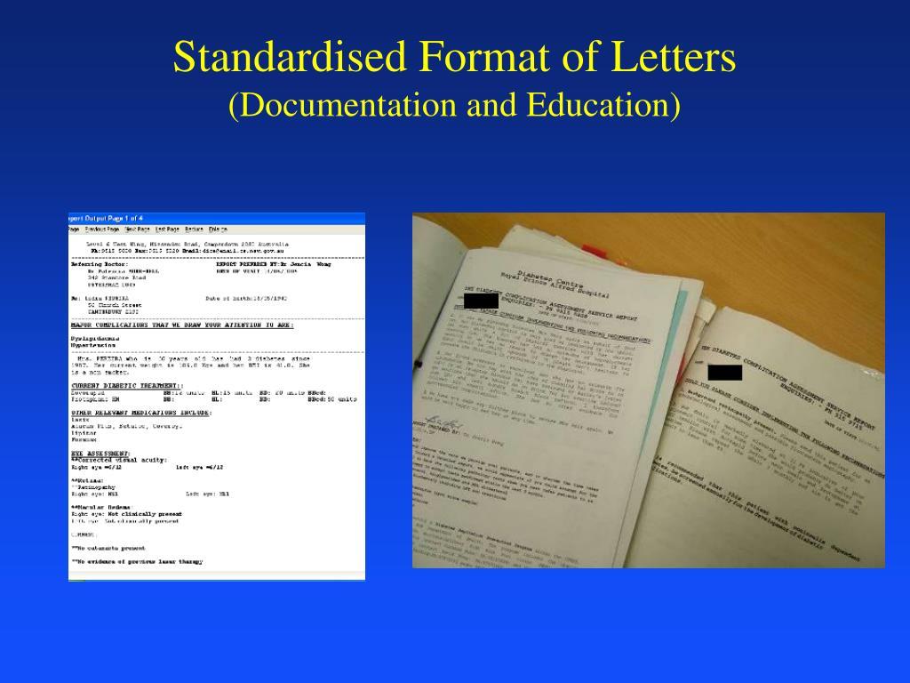Standardised Format of Letters