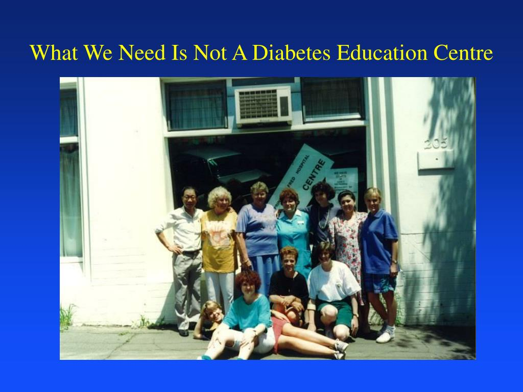 What We Need Is Not A Diabetes Education Centre