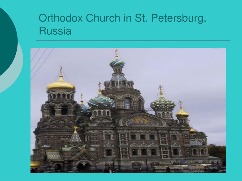 Orthodox Church in St. Petersburg, Russia