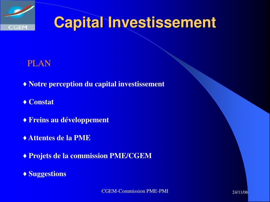 capital investissement l.
