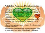 christian prayer and contemplation