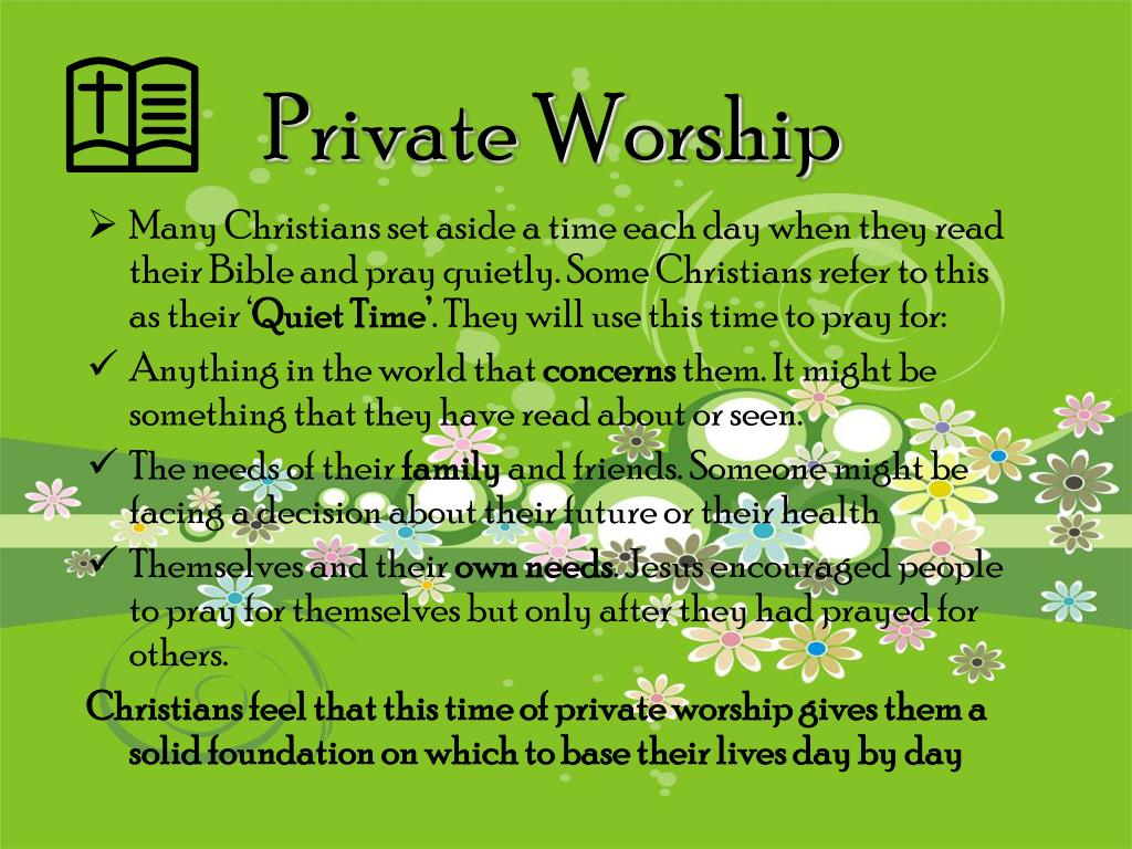 Private Worship