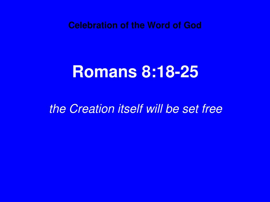 Celebration of the Word of God