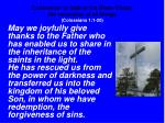 confession of faith in the risen christ the reconciler of all things colossians 1 1 20