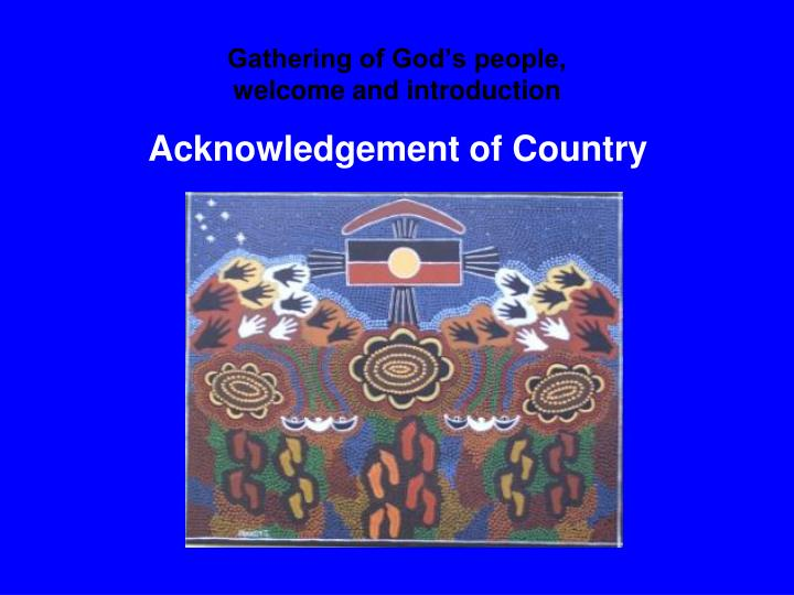 Gathering of god s people welcome and introduction