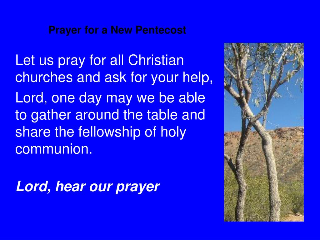 Prayer for a New Pentecost