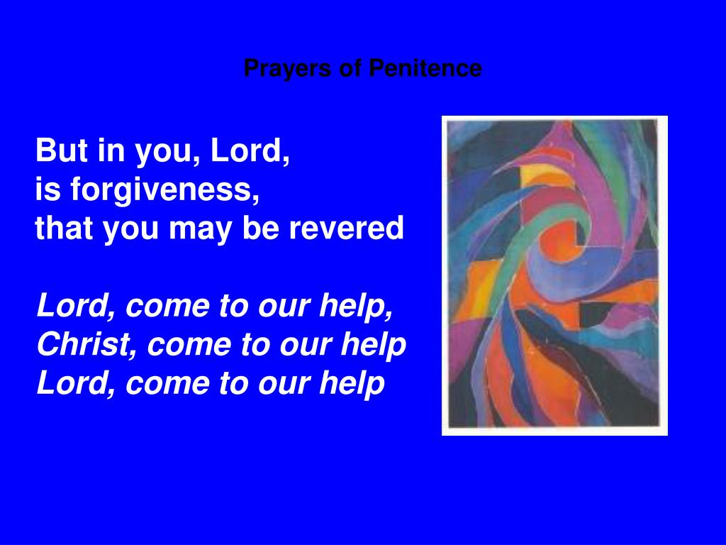 Prayers of Penitence