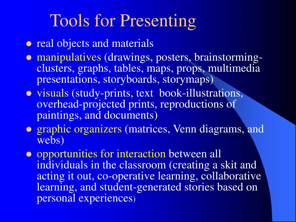 Tools for Presenting