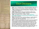 court decisions