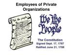 employees of private organizations