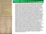 facts about school prayer