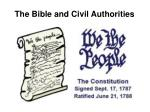 the bible and civil authorities