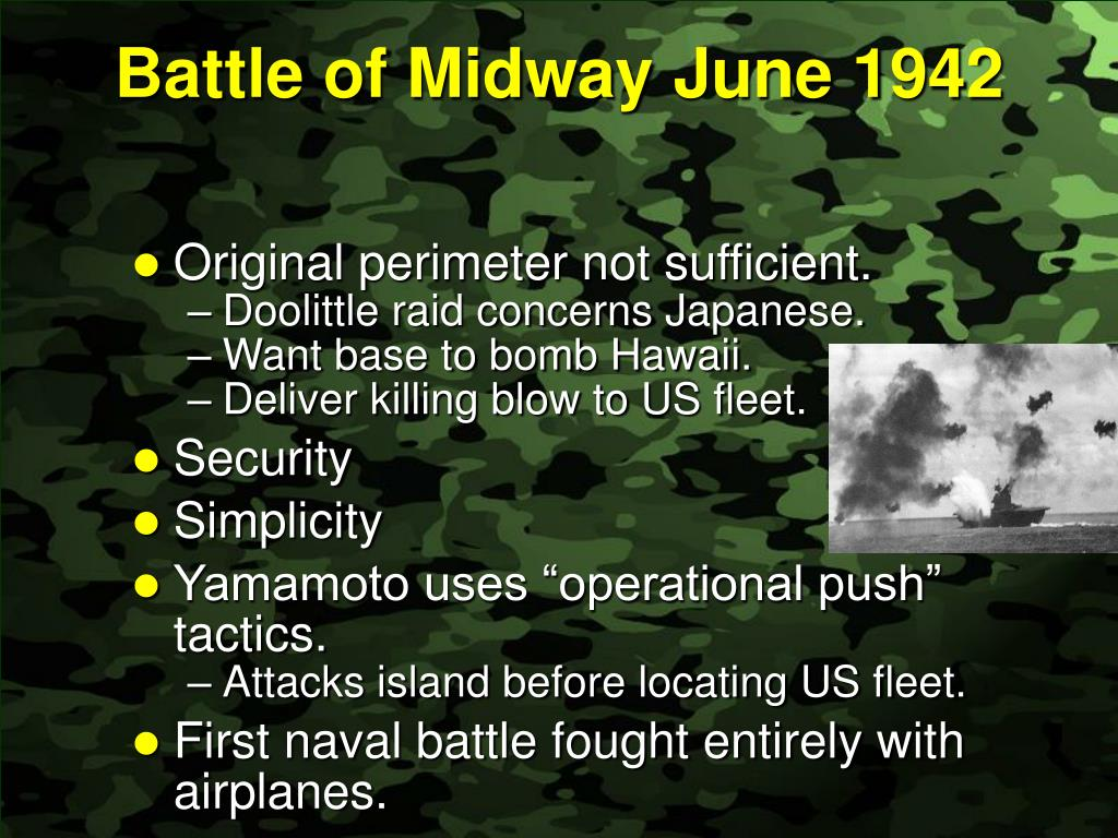 Battle of Midway	June 1942
