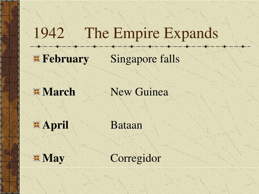 1942The Empire Expands