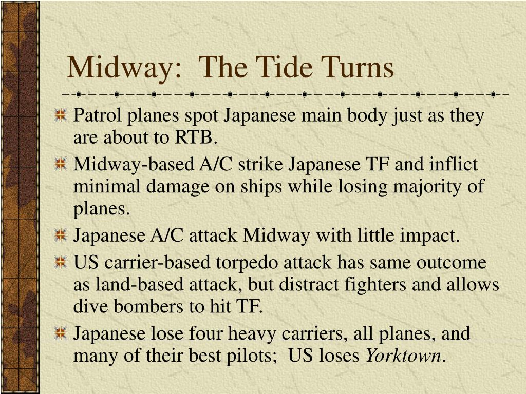 Midway:  The Tide Turns
