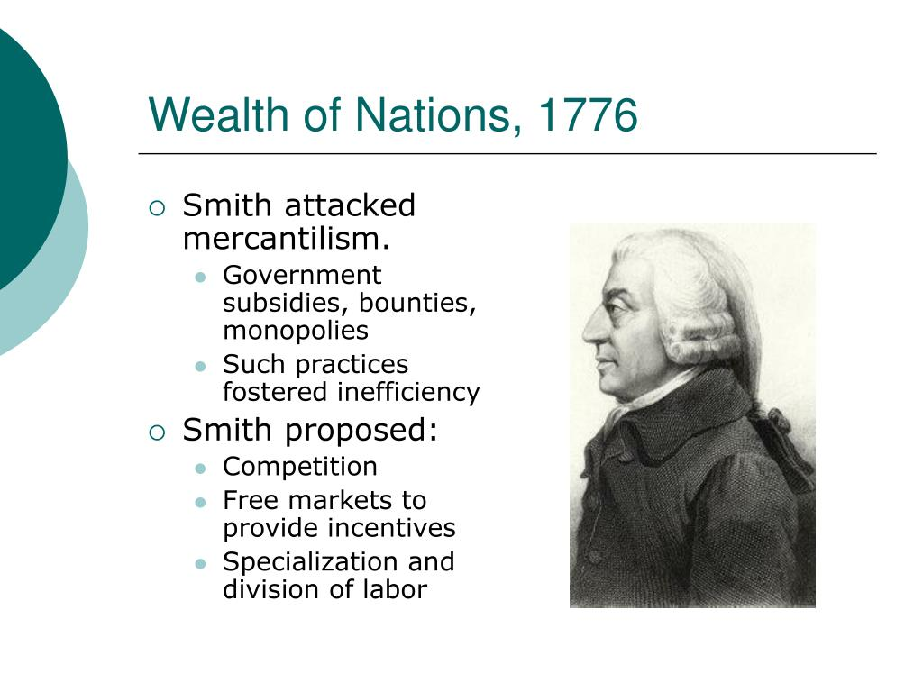 Wealth of Nations, 1776