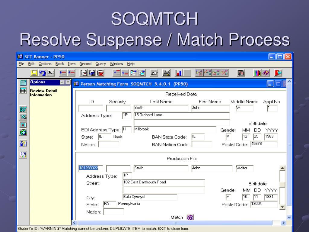SOQMTCH